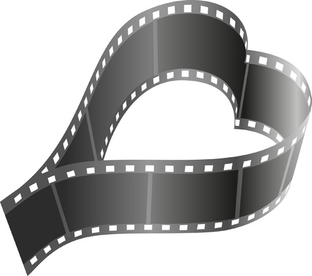 reels: Heart shape film reel Illustration
