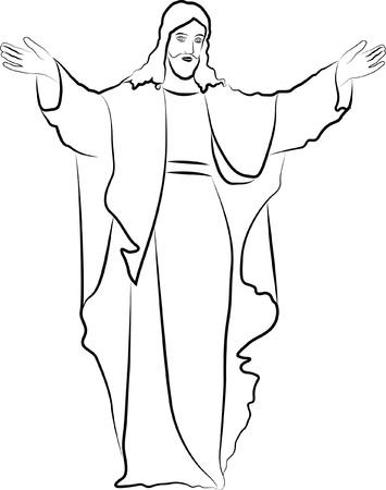 blessings: sketch Jesus Christ