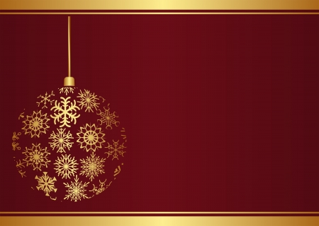 Christmas background with ornament Çizim