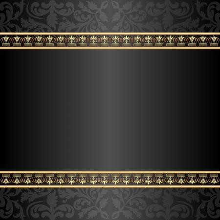 sfondo nero e oro con ornamenti
