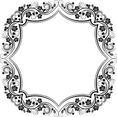quadrat: floral frame design element