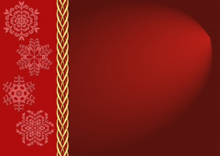 brass plate: Christmas background with snowflakes Illustration