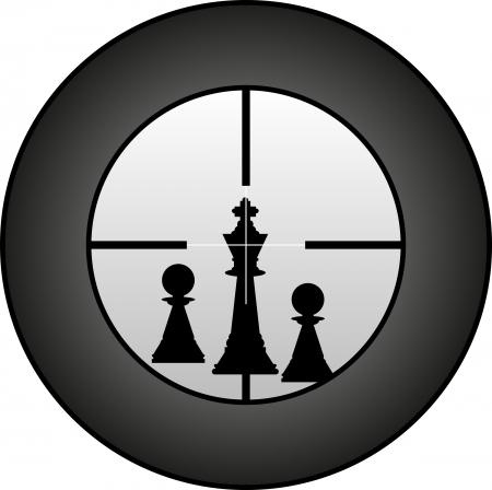 chessman のターゲットの狙撃兵によって  イラスト・ベクター素材
