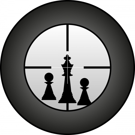 targeted: chessman in targeted by sniper