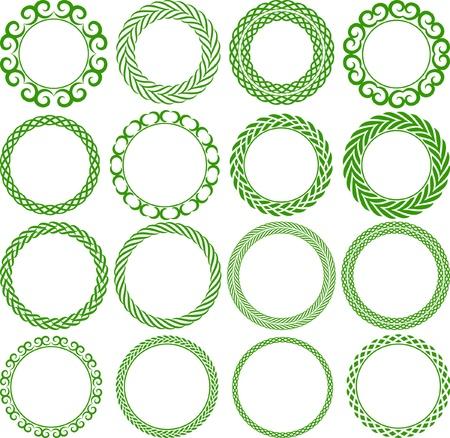 Set of decorative round frame Stock Vector - 16757476