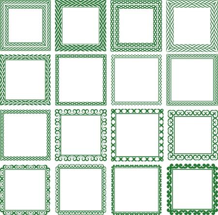 quadratic: Juego de marco cuadrado decorativo