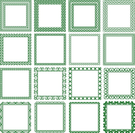 quadrat: Set of decorative square frame