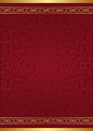 claret red: fondo marr�n con adornos de oro