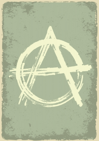 anarchy: anarchy sign on destroyed  background