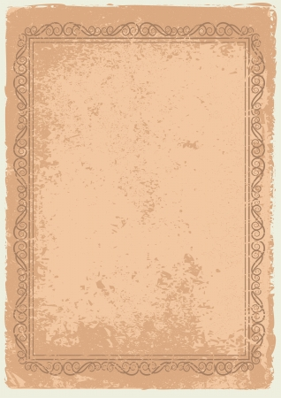earthy: grunge background with frame