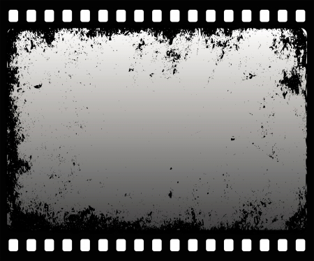 grunge filmstrip in gray scale Stock Vector - 16878291