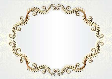 brass plate: glamour background with floral ornaments