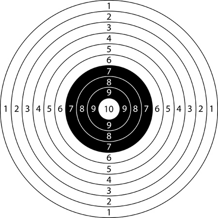 shooting gun: blank target sport for shooting competition