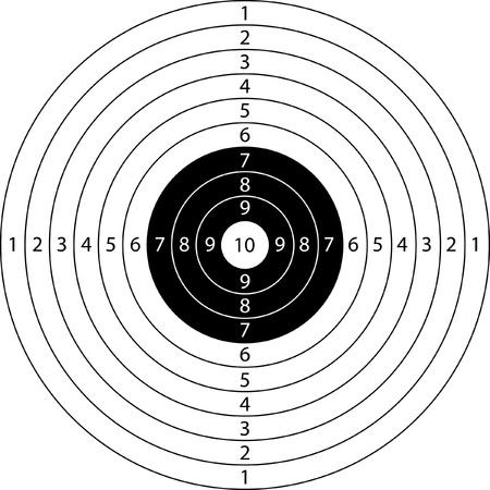 deporte blanco en blanco para competición de tiro