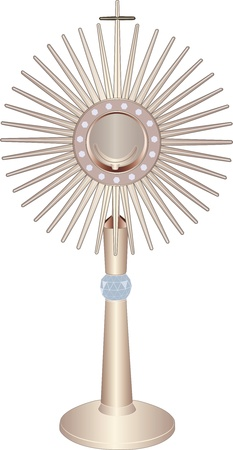 sacrament: liturgical vessel monstrance  Illustration
