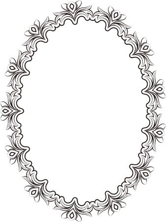 silhouette of frame oval Stock Vector - 17094030