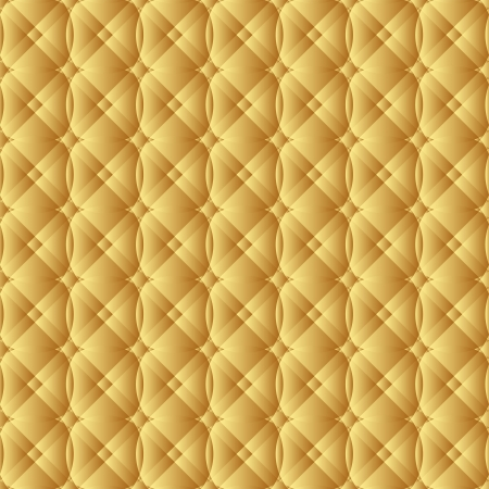 quilted fabric: golden background - seamless Illustration