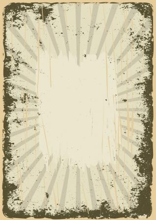 yellowed: destroyed old grunge background Illustration