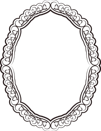 silhouette of frame oval Stock Vector - 17249583