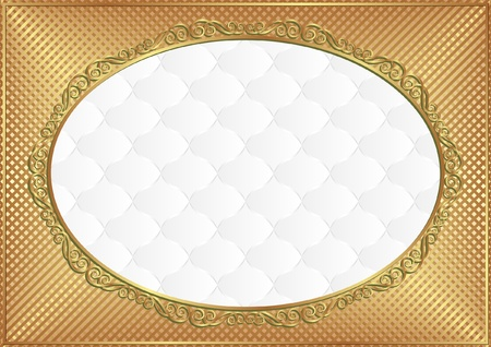 white background with decorative frame Vector