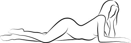 corps femme nue: croquis d'une femme nue