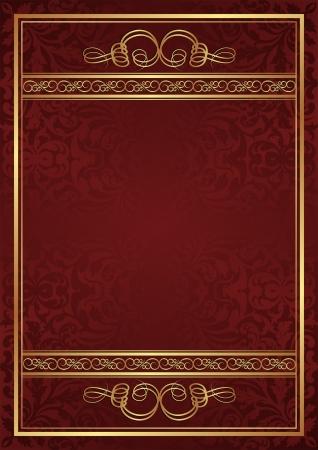 claret red: fondo rojo con adornos dorados