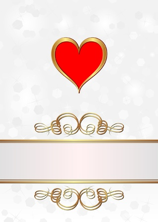 love wallpaper: white blurred background with golden heart