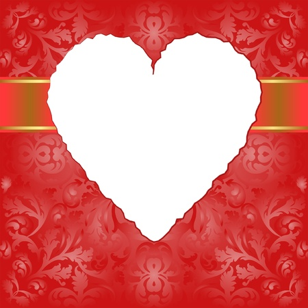 valentines background - insert heart transparent space for picture Vector
