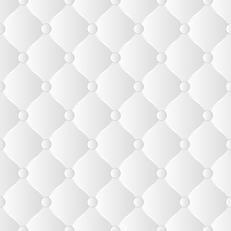 white buttoned  background - seamless Vector