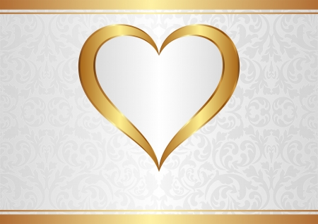 黄金の心と光の背景