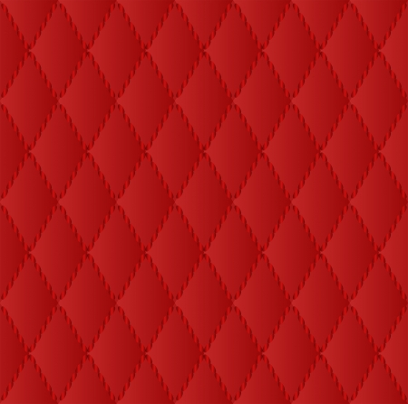red texture seamless  - quilted fabric Vector