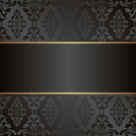 velvet black background with ornaments Vector