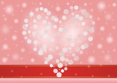 blurred pink background with heart Vector