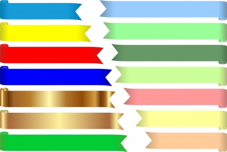 set of colored tapes for text Stock Vector - 17636182