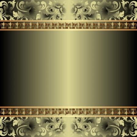 metaal: achtergrond met gouden ornamenten