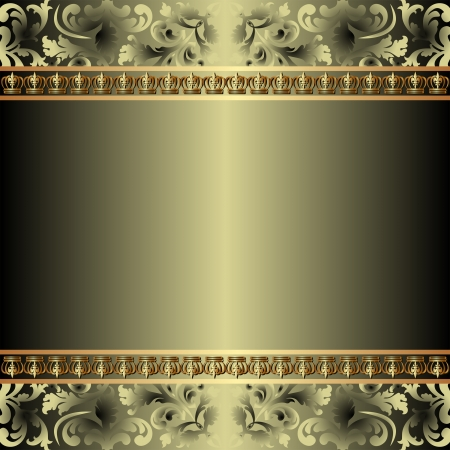 metal: background with gold ornaments