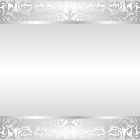 shine silver: shine background with ornaments Illustration