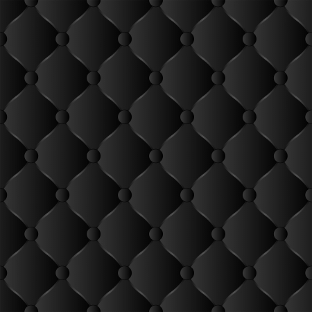 black background seamless - quilted fabric Vector