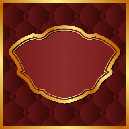 maroon background with gold frame Stock Vector - 17663160