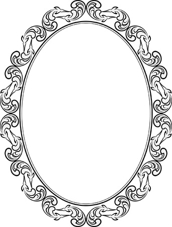 silhouette of frame oval Stock Vector - 17759852
