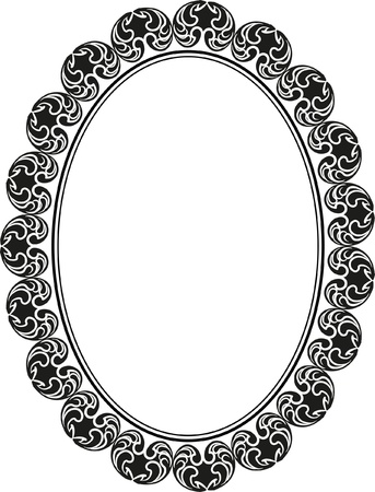 silhouette of frame oval Stock Vector - 17902304