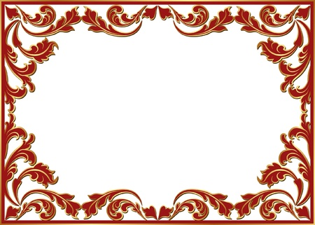 isolated floral frame