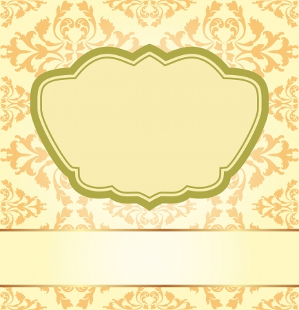 vintage background with floral ornaments Stock Vector - 17894869