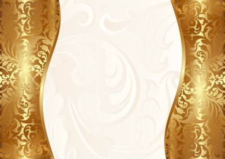 glamour background creamy and gold Vector