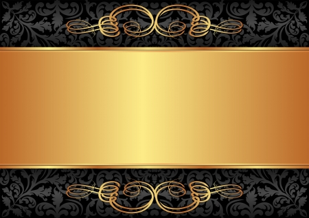 brushed gold: black and gold background with ornaments