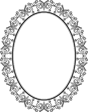 silhouette of oval frame Stock Vector - 17894866