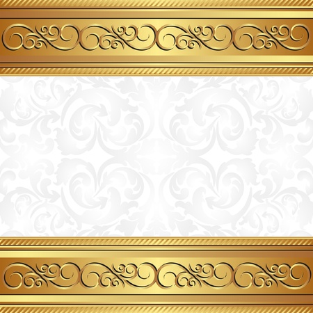 golden background with floral ornaments Stock Vector - 17928020