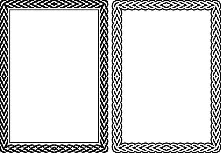 orthogonal: silhouette of rectangular frames