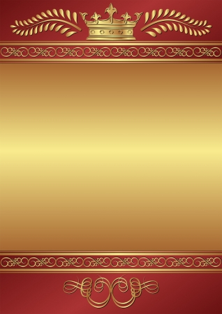 royal frame: royal background with crown