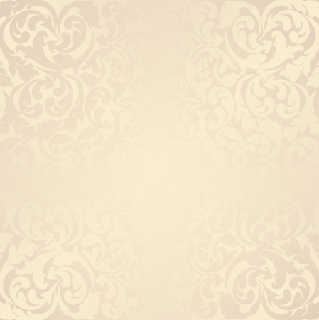 beige background with floral elements Stock Vector - 18265175